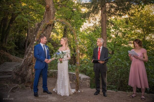 Crete Wedding Ceremony at Milia Retreat at Western Crete