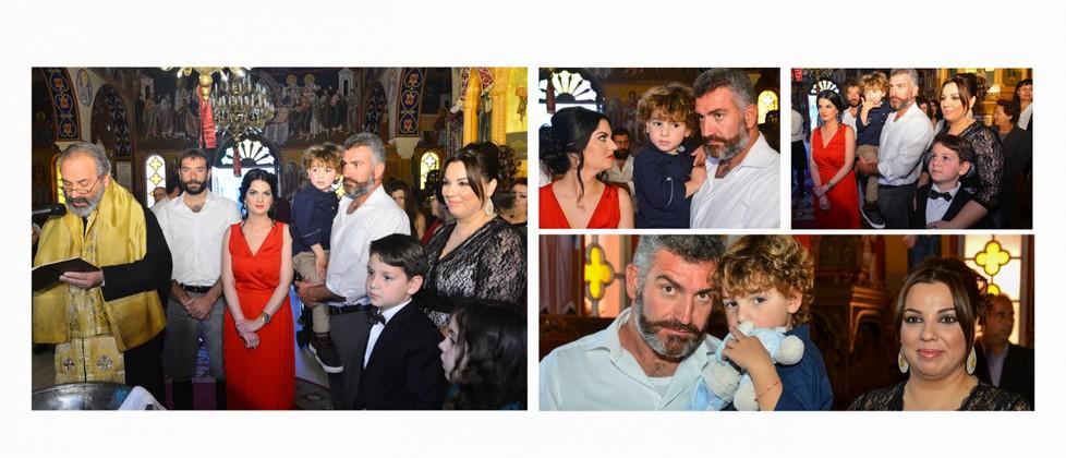 Ksenofon Olga & George Chalkiadakis Baptism Christening Photographer Greece