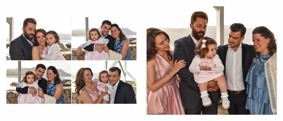 Joanna Olga & George Chalkiadakis Baptism Christening Photographer Greece