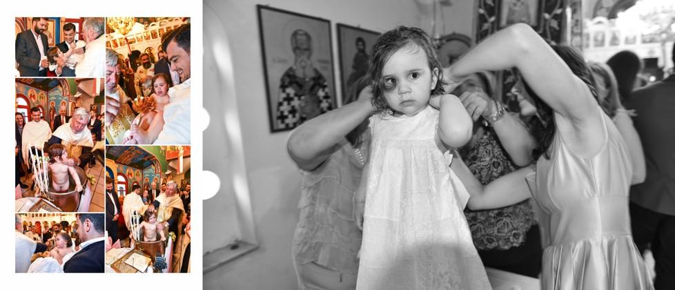 Olga & George Chalkiadakis Baptism Christening Photographer Greece