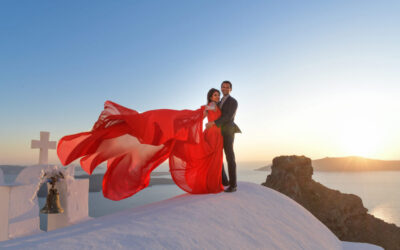 Pre Wedding Photo session in Santorini, Nivedita & Amit