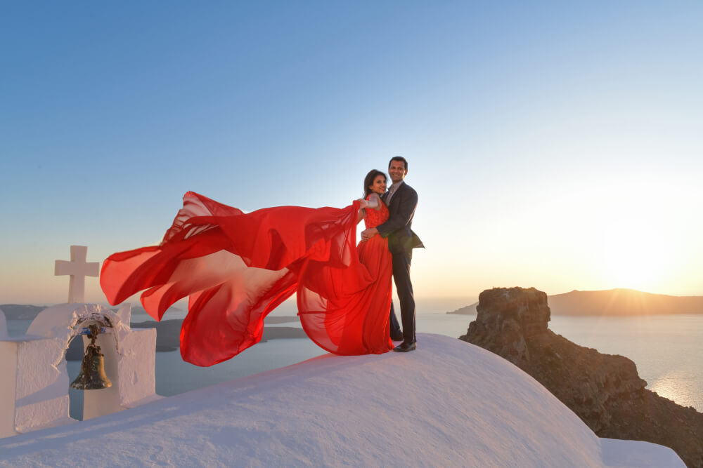 Pre Wedding Photo session in Santorini, Nivedita & Amit