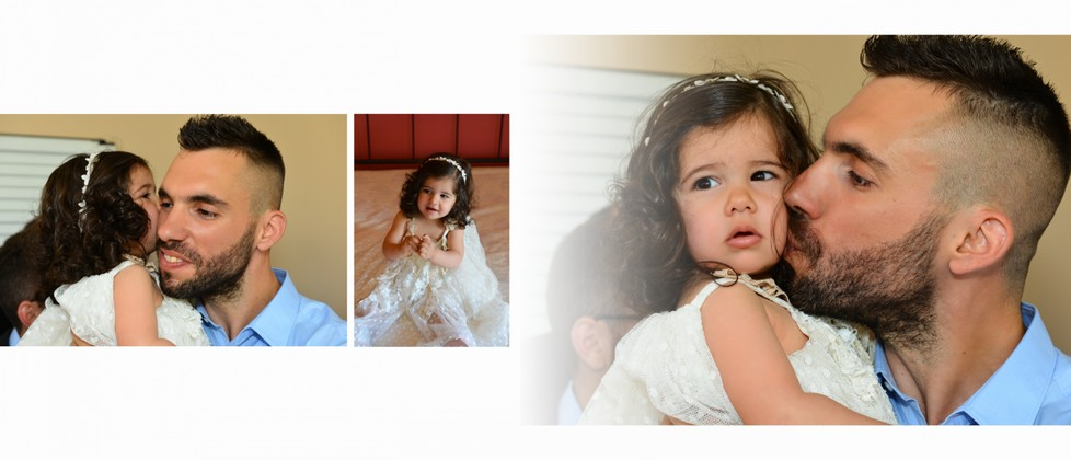 Ioanna Olga & George Chalkiadakis Baptism Christening Photographer Greece