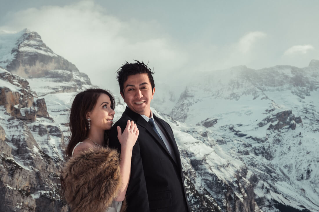 Mario & Amber Olga & George Chalkiadakis Wedding photography Destination Swiss Alps